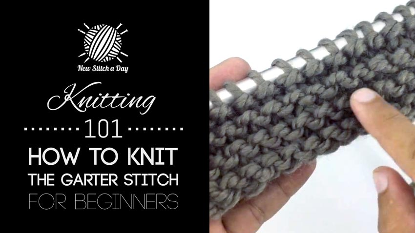 Knitting Patterns For Beginners Garter Stitch : Knitting 101: How to Knit the Garter Stitch - NewStitchaDay.com
