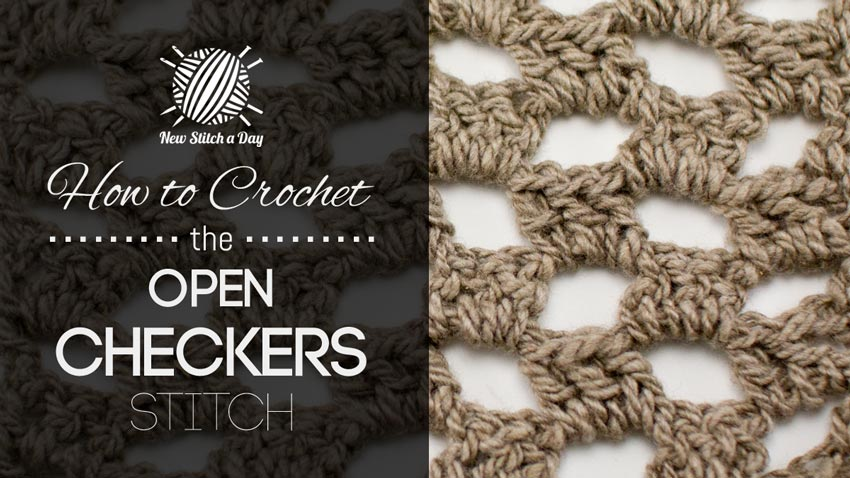 Crochet Stitch Open : The Open Checker Stitch :: Crochet Stitch #77