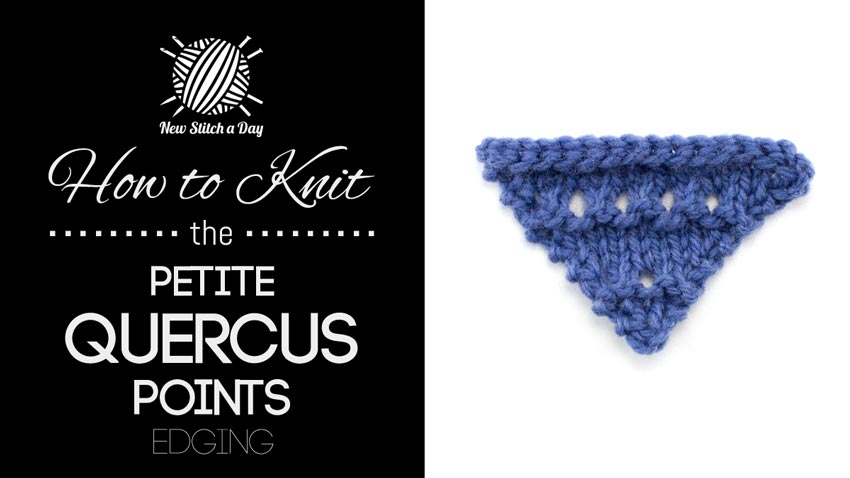 How to Knit the Petite Quercus Points Edging