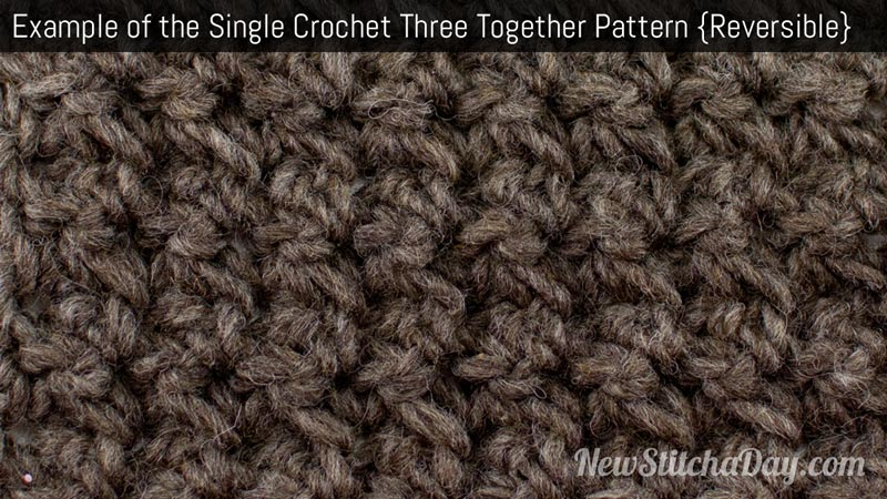... to Crochet the Single Crochet 3 Together Pattern NEW STITCH A DAY
