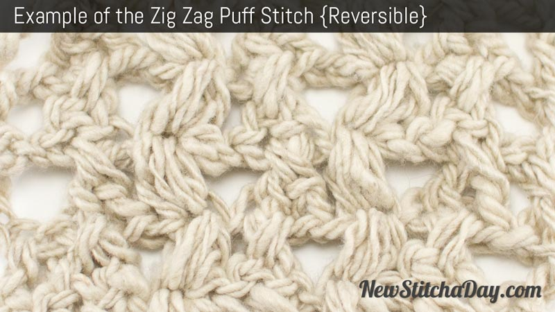 How to Crochet the Zig Zag Puff Stitch NEW STITCH A DAY