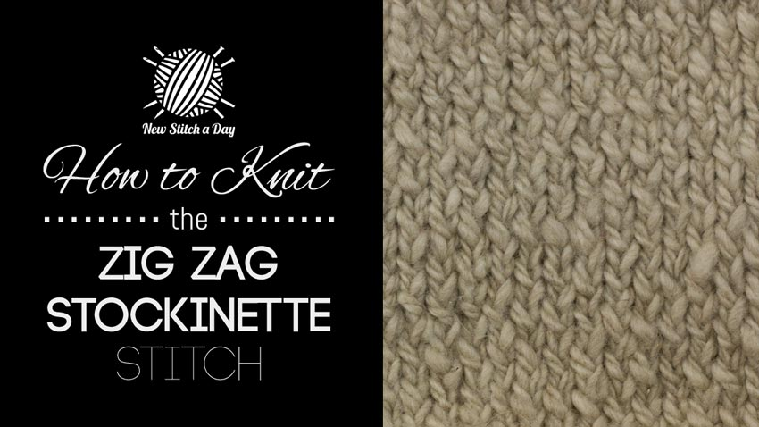 How to Knit the Zig Zag Stockinette Stitch