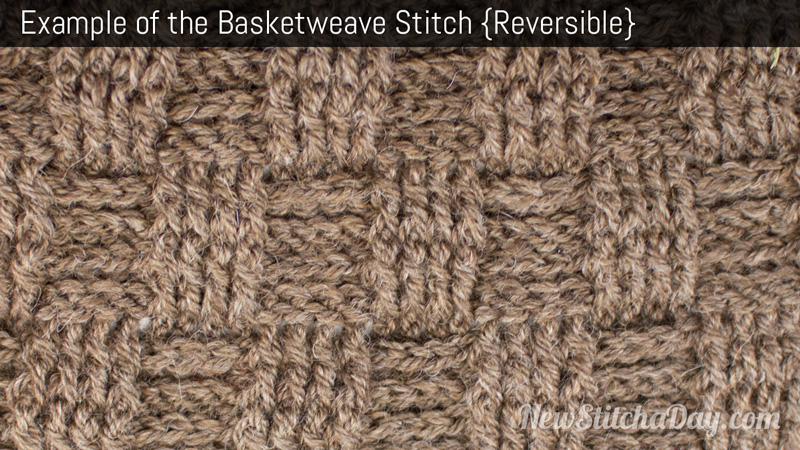 Basket Weaving Example Of Which Industry : The basketweave stitch crochet