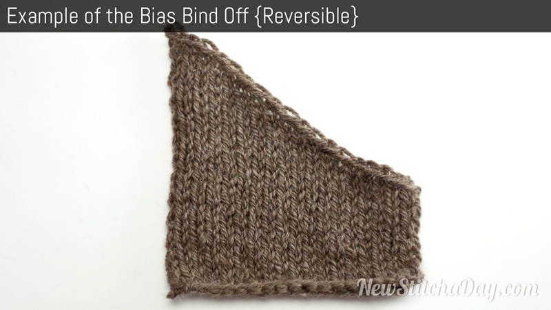 Example of the Bias Bind Off
