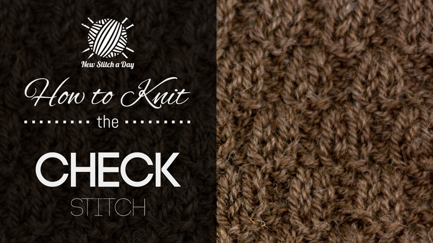 How to Knit the Check Stitch Cover