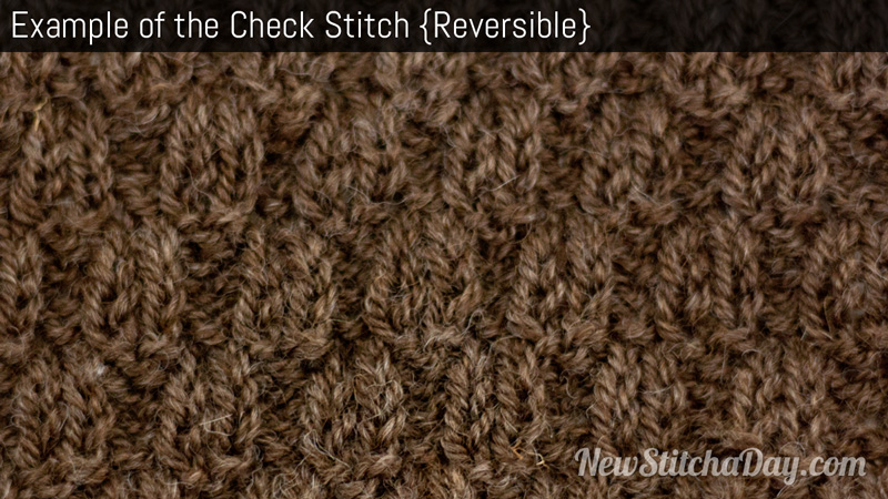 Example of the Check Stitch