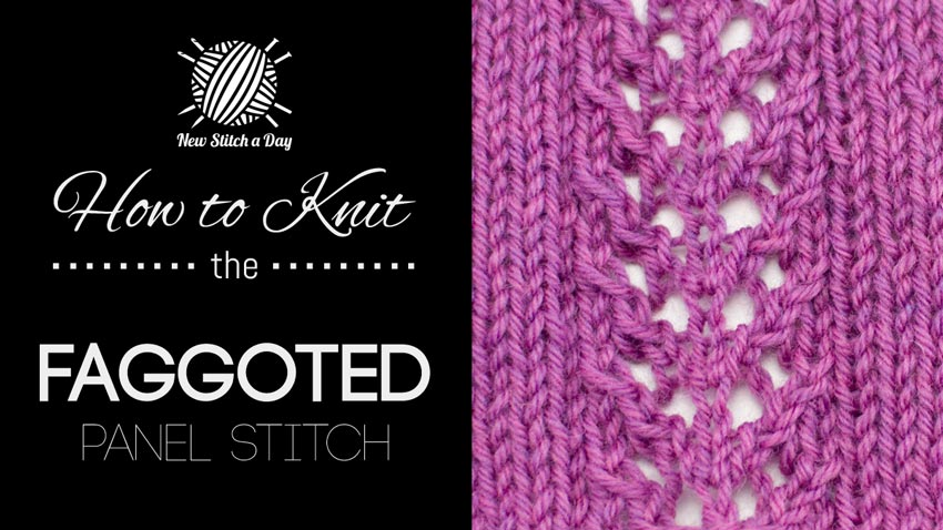 How to Knit the Faggoted Panel Stitch