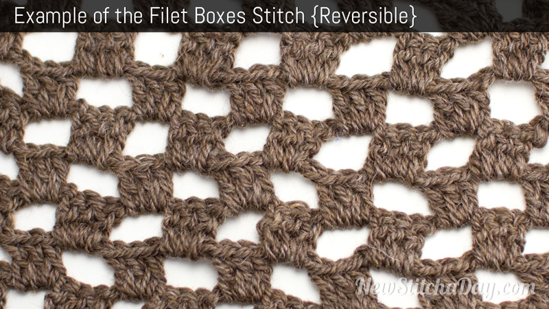 Example of the Filet Boxes Stitch
