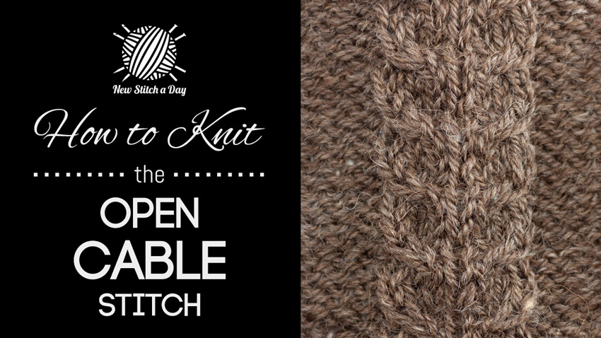 How to Knit the Open Cable Stitch