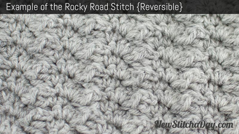How to Crochet the Rocky Road Stitch
