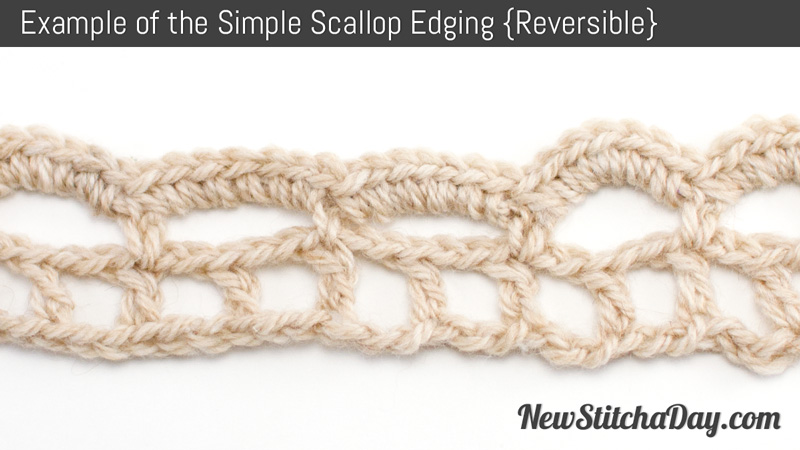 Crochet Stitches Scallop Edging : The Simple Scallop Edging :: Crochet Stitch #103