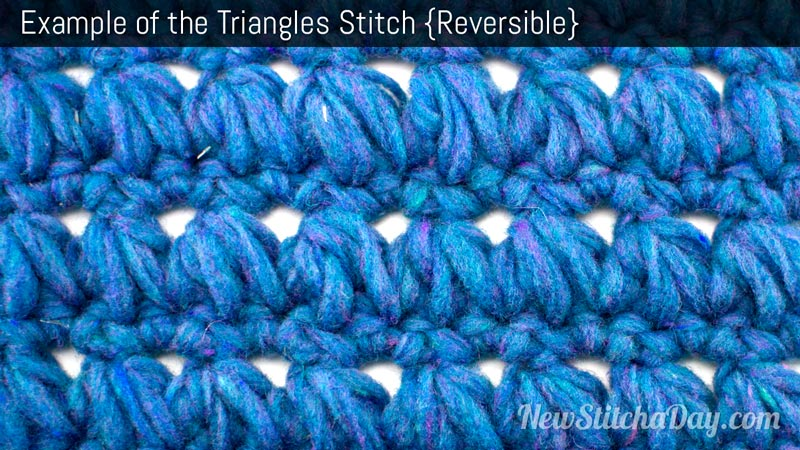 Example of the Triangles Stitch