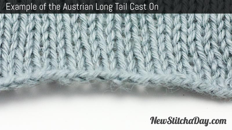 Example of the Austrian Long Tail Cast On