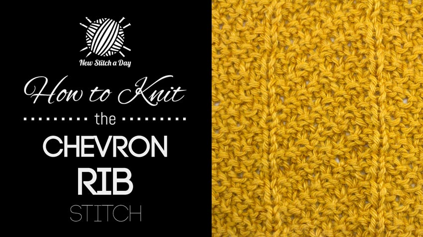 The Chevron Rib Stitch :: Knitting Stitch #225 NEW STITCH A DAY
