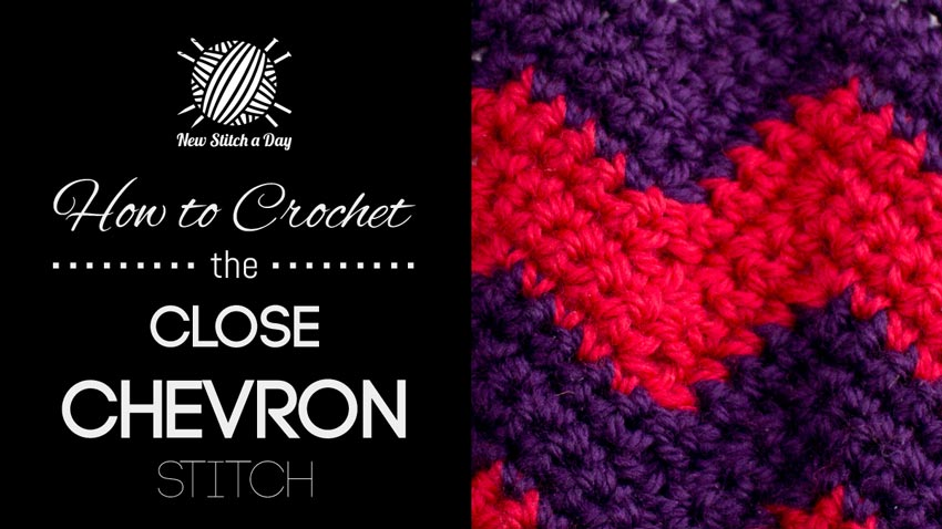 How to Crochet the Close Chevron Stitch