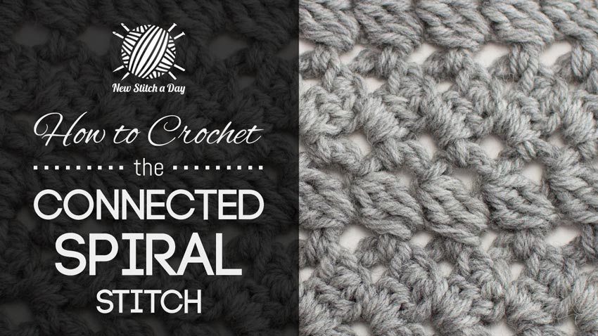 How to Crochet the Connected Spiral Stitch