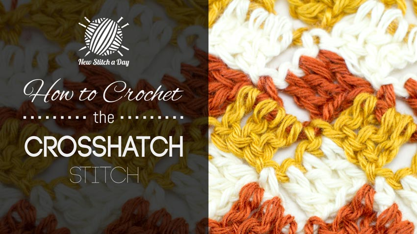 How to Crochet the 3 Color Crosshatch Stitch
