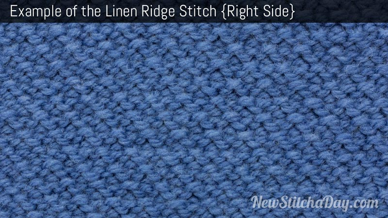 Example of the Linen Ridge Stitch. (Right Side)