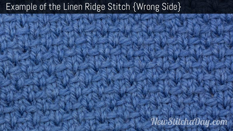 Example of the Linen Stitch. (Wrong Side)