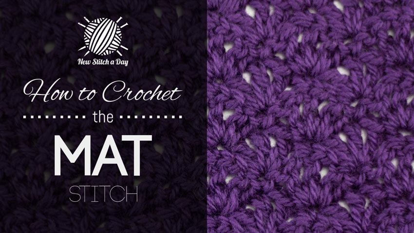 How to Crochet the Mat Stitch