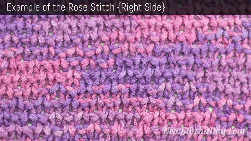 Knitting Stitch Of The Day : The Rose Stitch :: Knitting Stitch #221 NEW STITCH A DAY