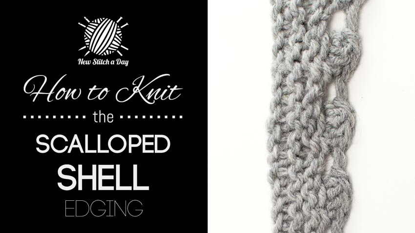 How to Knit the Scalloped Shell Edge