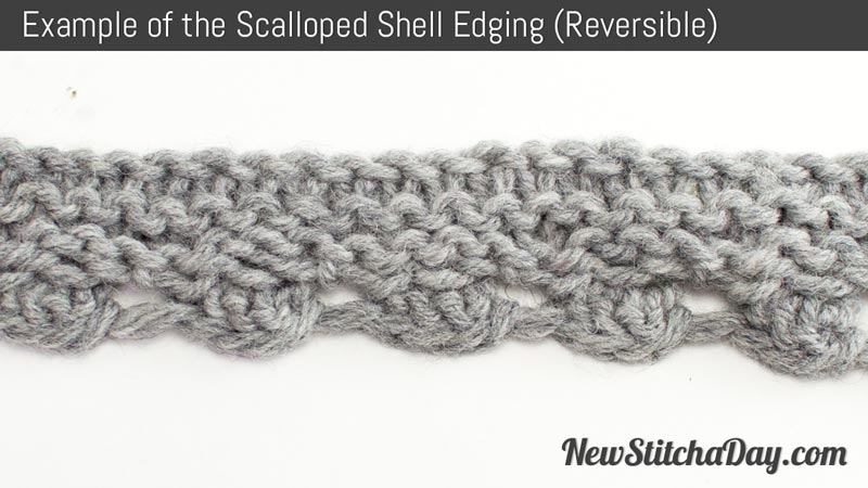 The Scalloped Shell Edging :: Knitting Stitch #219 NEW STITCH A DAY