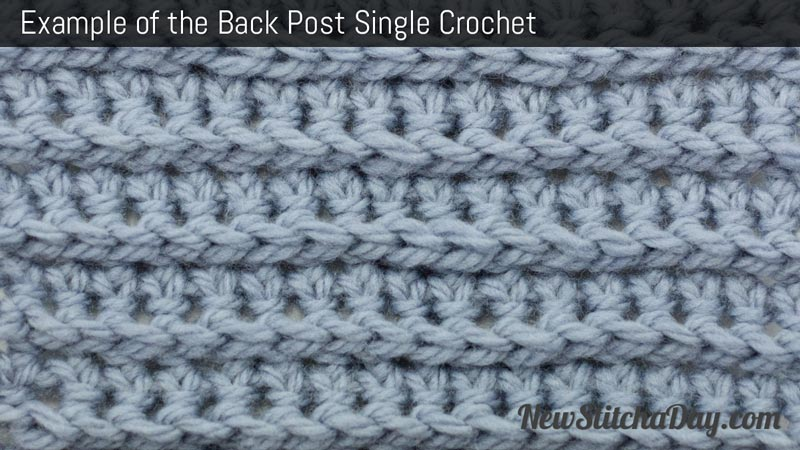 Example of the Back Post Single Crochet