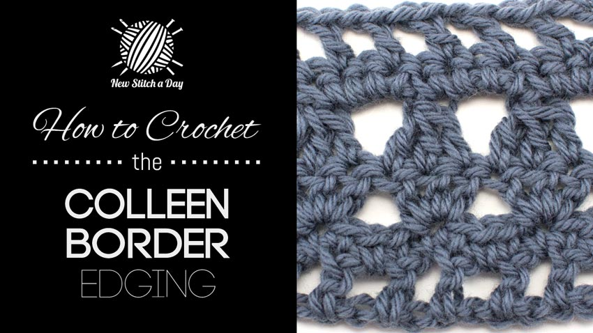 How to Crochet the Colleen Border Edging Stitch