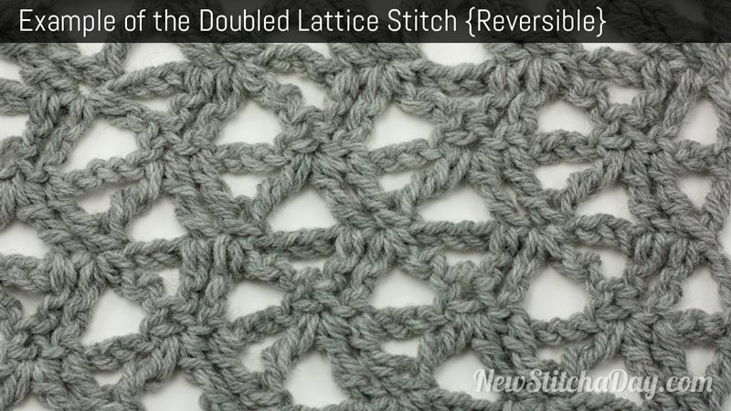 Example of the Doubled Lattice Stitch. (Reversible)
