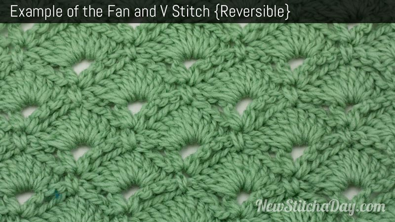 Crochet Baby Blanket Patterns Easy Free : The Fan & V Stitch :: Crochet Stitch #125 :: New Stitch A Day