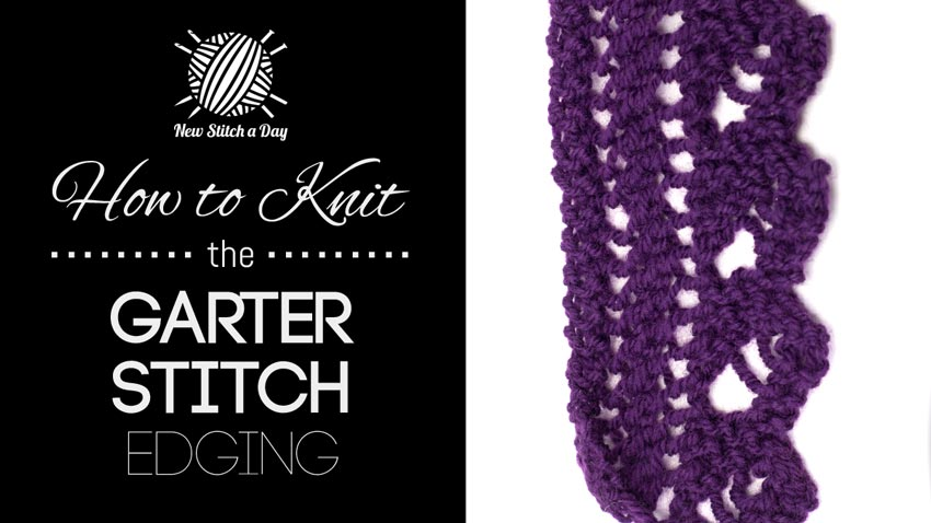 Knitting Edges Garter Stitch : The garter stitch edging knitting new