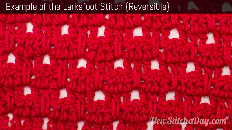 Example of the Larksfoot Stitch. (Reversible)