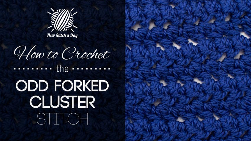 How to Crochet the Odd Forked Cluster Stitch