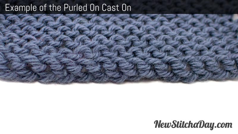 Example of the Purled On Cast On