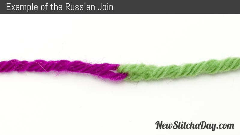 Knitting Russian Join Yarn : How to knit the russian join new stitch a day