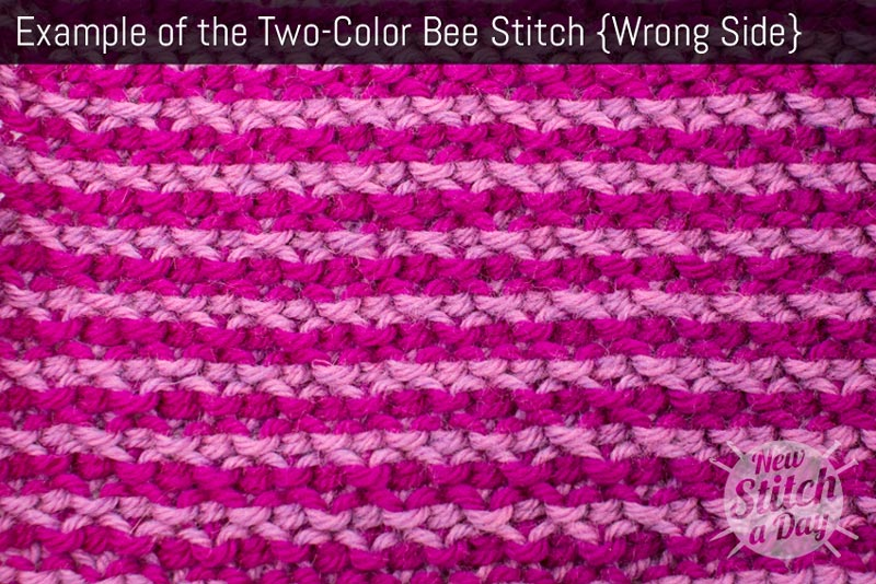 Example of the Two-Color Bee Stitch. (Wrong Side)