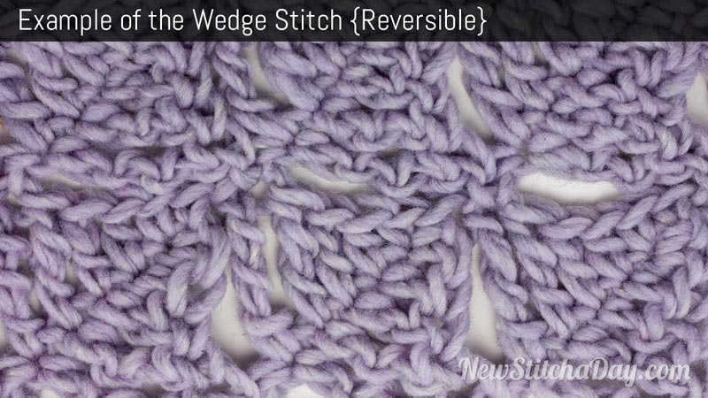 Crochet Stitch Of The Day : The Wedge Stitch :: Crochet Stitch #126 :: New Stitch A Day