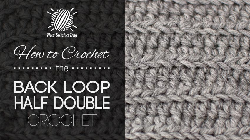 How to Crochet the Back Loop Half Double Crochet