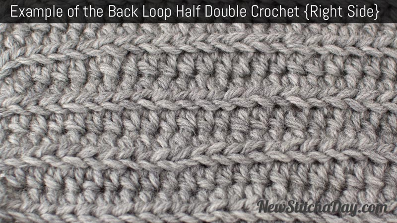 Example of the Back Loop Half Double Crochet