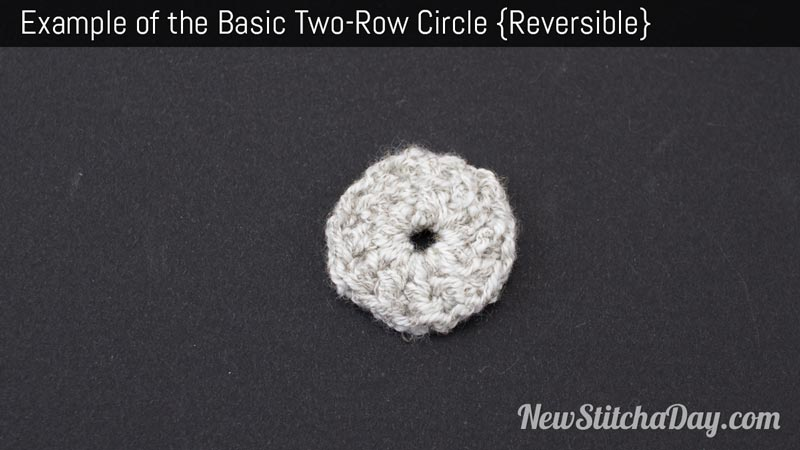 How to Crochet the Simple Two Round Circle NEW STITCH A DAY