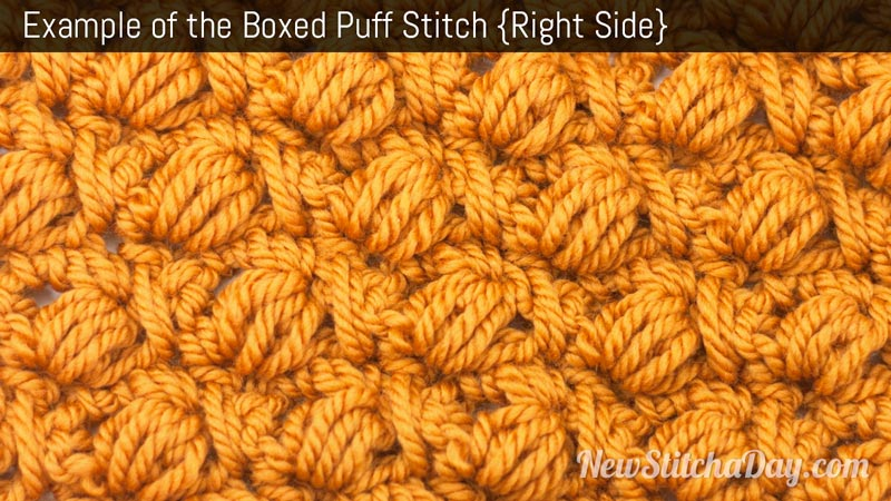 Crochet Stitches Right Side : The Boxed Puff Stitch :: Crochet Stitch #156 :: New Stitch A Day