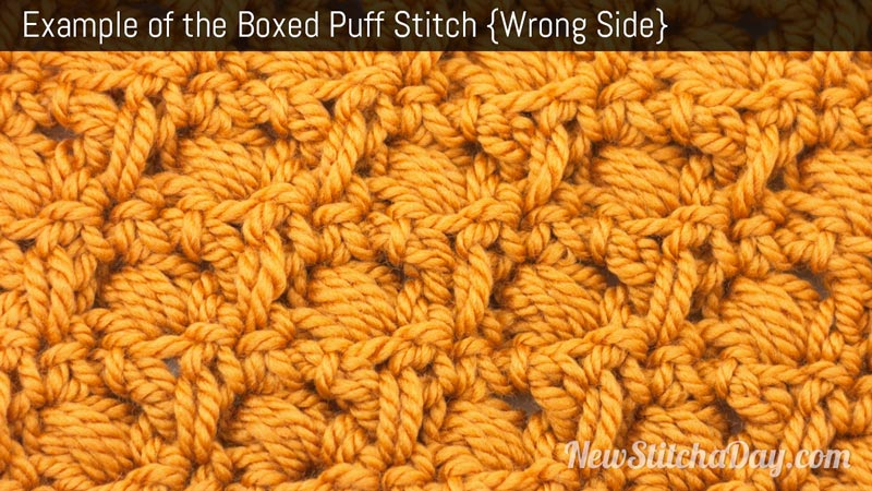Crochet Stitch Of The Day : The Boxed Puff Stitch :: Crochet Stitch #156 :: New Stitch A Day
