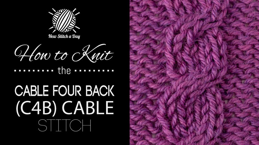 How to Knit the Cable 4 Back