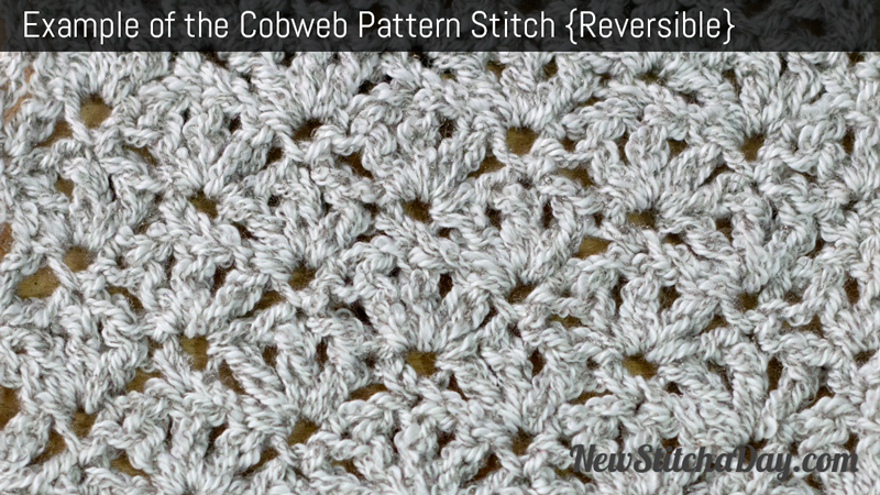 Example of the Cobweb Stitch. (Reversible)