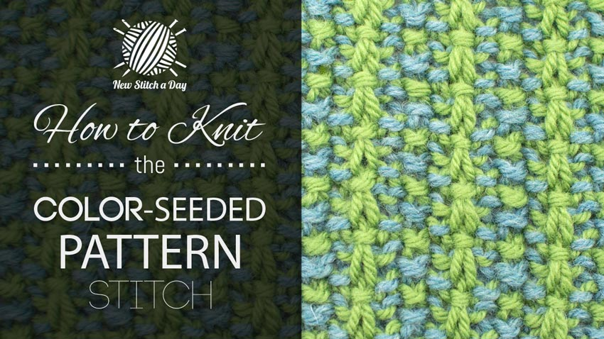 How To Knit the Color-Seeded Pattern Stitch