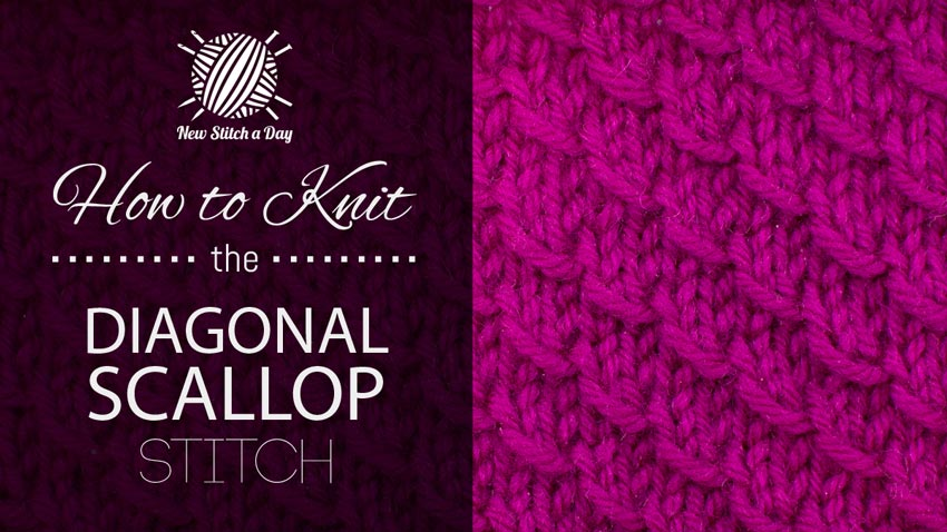 How to Knit the Diagonal Scallop Stitch