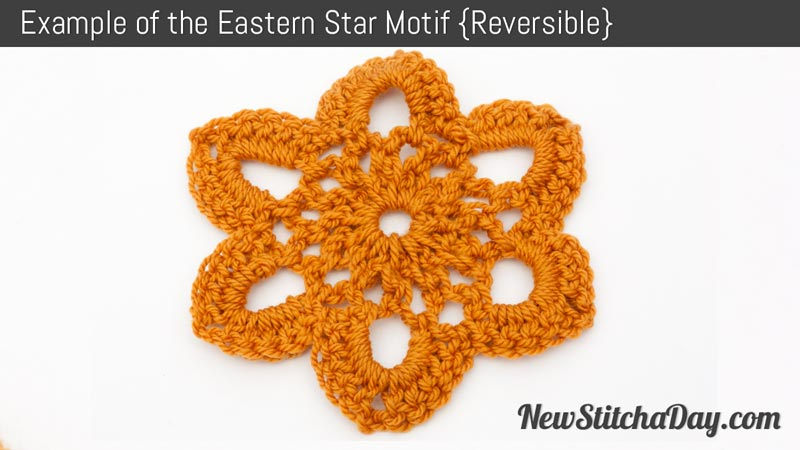 Example of the Eastern Star Motif. (Reversible)