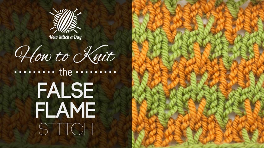 How to Knit the False Flame Stitch