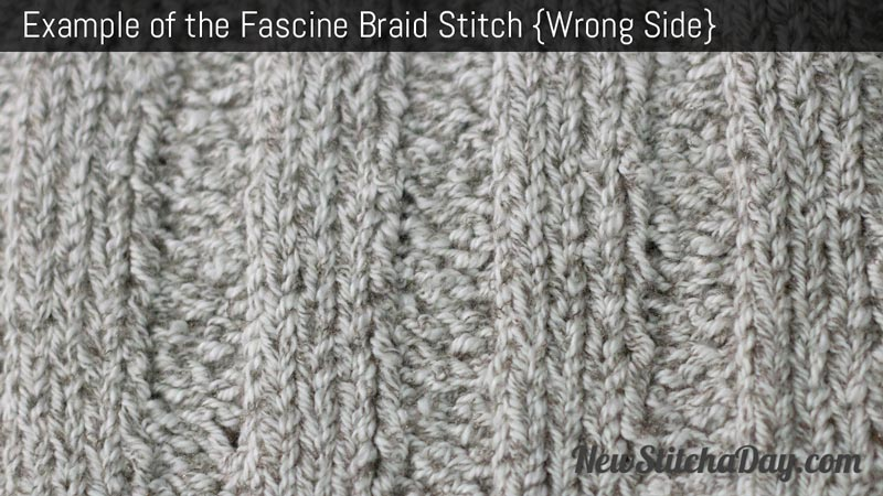 Example of the Fascine Braid Stitch. (Wrong Side)